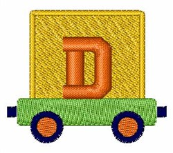 Toy Train D embroidery design