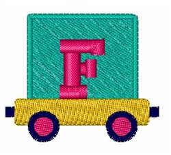 Toy Train F embroidery design