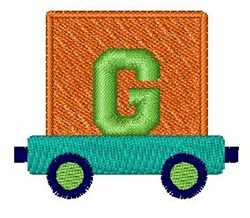 Toy Train G embroidery design