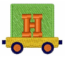 Toy Train H embroidery design