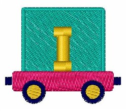 Toy Train I embroidery design