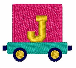 Toy Train J embroidery design