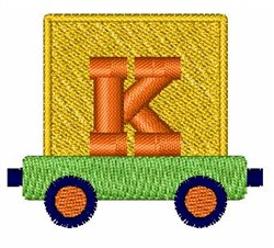 Toy Train K embroidery design