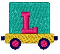 Toy Train L embroidery design