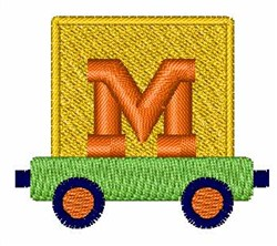 Toy Train M embroidery design