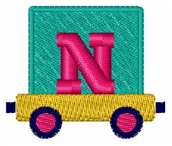 Toy Train N embroidery design