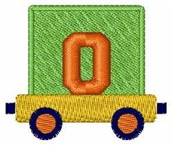 Toy Train O embroidery design