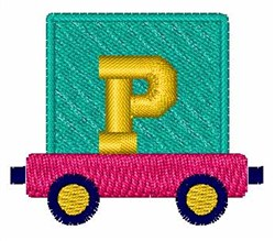 Toy Train P embroidery design