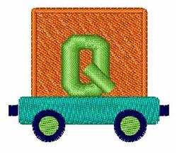 Toy Train Q embroidery design