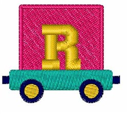 Toy Train R embroidery design
