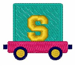 Toy Train S embroidery design