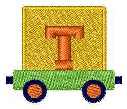 Toy Train T embroidery design