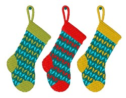 Knitted Stockings embroidery design