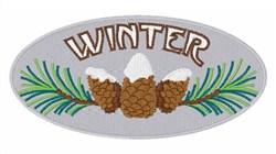 Winter Pine Cones embroidery design