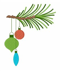 Ornaments On Branch embroidery design