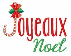 Joyeaux Noel embroidery design