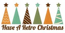 A Retro Christmas embroidery design