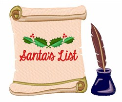 Santas List embroidery design