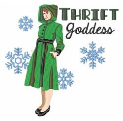 Thrift Goddess embroidery design