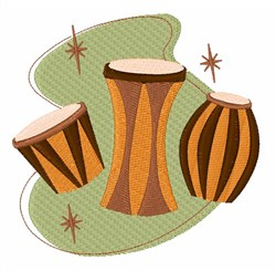Retro Drums embroidery design