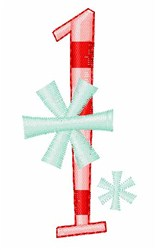 Stripes & Snowflakes 1 embroidery design