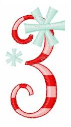 Stripes & Snowflakes 3 embroidery design