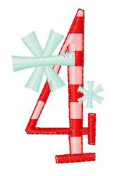 Stripes & Snowflakes 4 embroidery design
