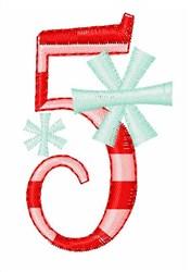 Stripes & Snowflakes 5 embroidery design