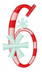 Stripes & Snowflakes 6 embroidery design