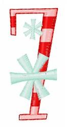 Stripes & Snowflakes 7 embroidery design