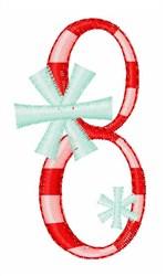 Stripes & Snowflakes 8 embroidery design