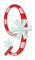 Stripes & Snowflakes 9 embroidery design