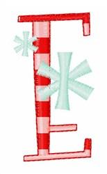 Stripes & Snowflakes E embroidery design