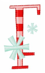 Stripes & Snowflakes F embroidery design