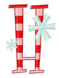 Stripes & Snowflakes H embroidery design