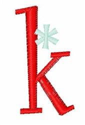 Stripes & Snowflakes k embroidery design