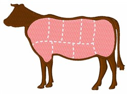 Cattle embroidery design