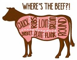 Wheres The Beef embroidery design