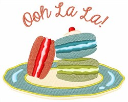 Ooh La La Dessert embroidery design