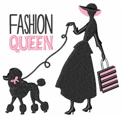 Fashion Queen embroidery design