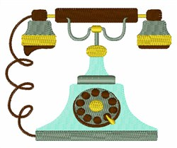 Antique Telephone embroidery design