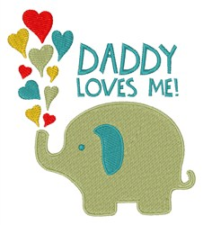 Daddy Loves Me embroidery design