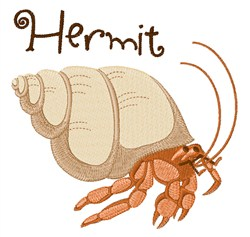 Hermit embroidery design