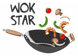 Wok Star embroidery design