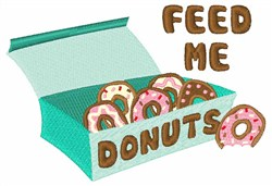 Feed Me Donuts embroidery design