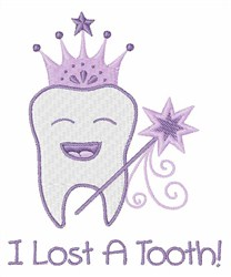 I Lost A Tooth embroidery design