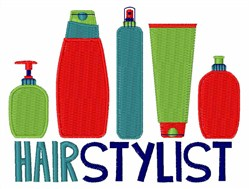 Hairstylist embroidery design