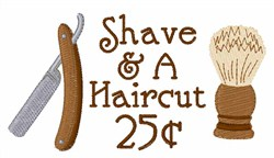 Shave And A Haircut embroidery design