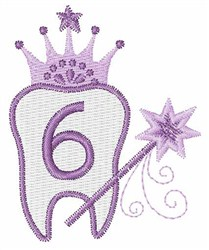 Tooth Fairy Font 6 embroidery design