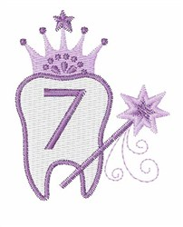 Tooth Fairy Font 7 embroidery design